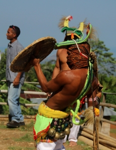 Caci, seni bela diri khas Manggarai, dipertunjukkan di Kampung Melo, Desa Liang Ndara, Manggarai Barat, Nusa Tenggara Timur (14)