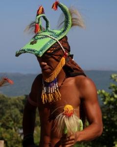 Caci, seni bela diri khas Manggarai, dipertunjukkan di Kampung Melo, Desa Liang Ndara, Manggarai Barat, Nusa Tenggara Timur (8)
