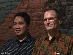 Dirjen Kebudayaan Kemdikbud RI Hilmar Farid dan Cultural Unit Head UNESCO Bernard Allens Zako
