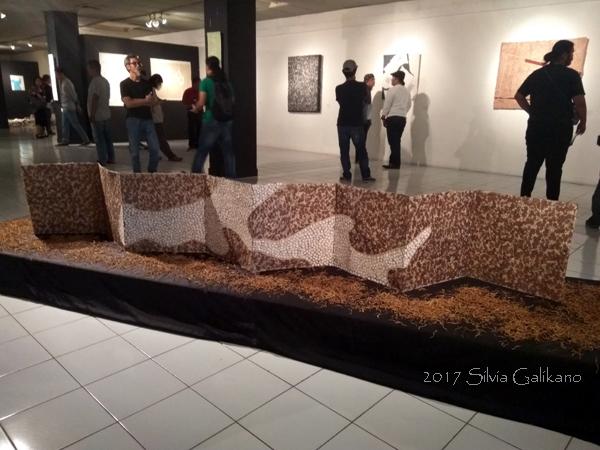Jun Sakata Wind, 320x50 cm, sumi, oil pastel, banana paper (4)